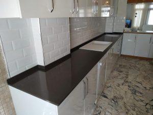 Belenco metropol grey mutfak tezgahı uygulaması